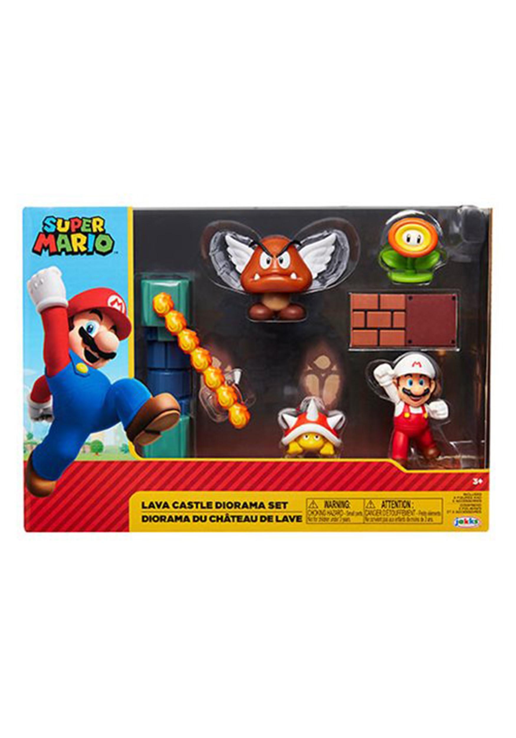 2 1/2 Inch Lava Castle World of Nintendo 2 Diorama Set