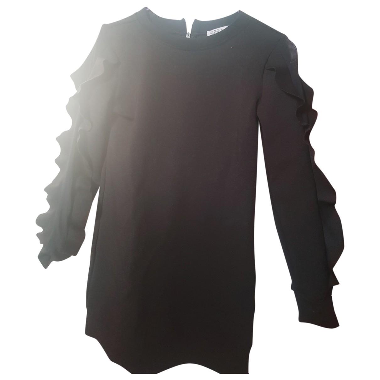 Patrizia Pepe - Robe    pour enfant en coton - elasthane - noir