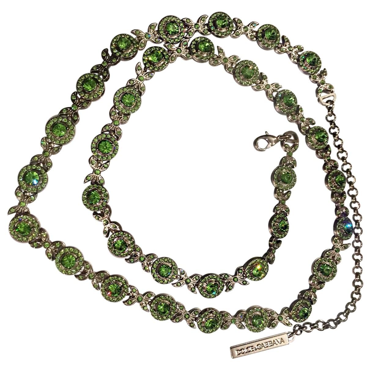 Dolce & Gabbana \N Green Metal belt for Women M International
