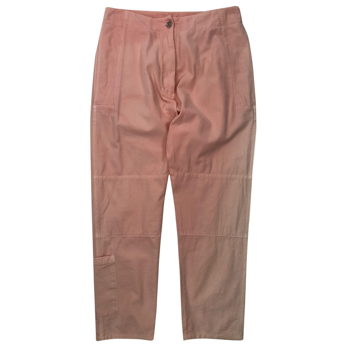 Mm6 N Pink Cotton Trousers for Women 40 FR