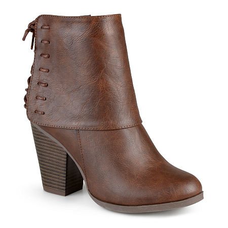 Journee Collection Womens Ayla Ankle Booties, 9 Medium, Brown