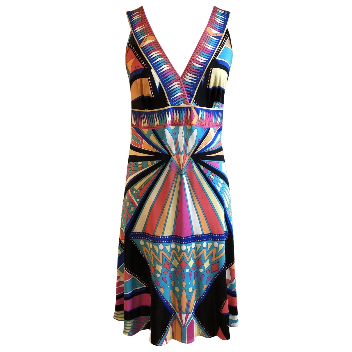 Emilio Pucci \N Multicolour Silk dress for Women 46 IT