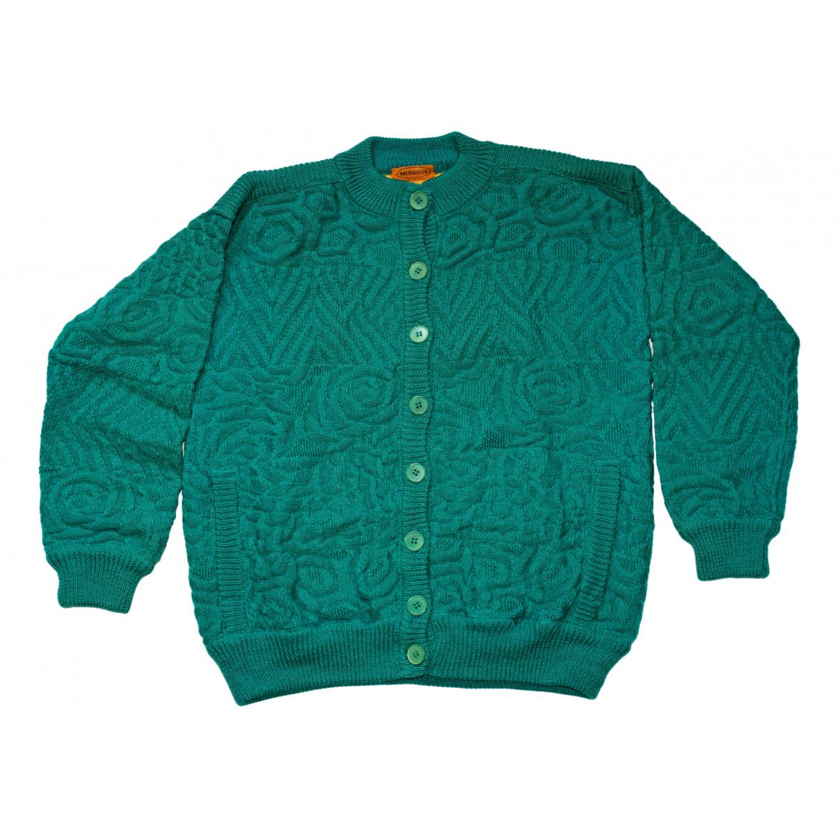 Missoni \N Pullover.Westen.Sweatshirts  in  Gruen Wolle