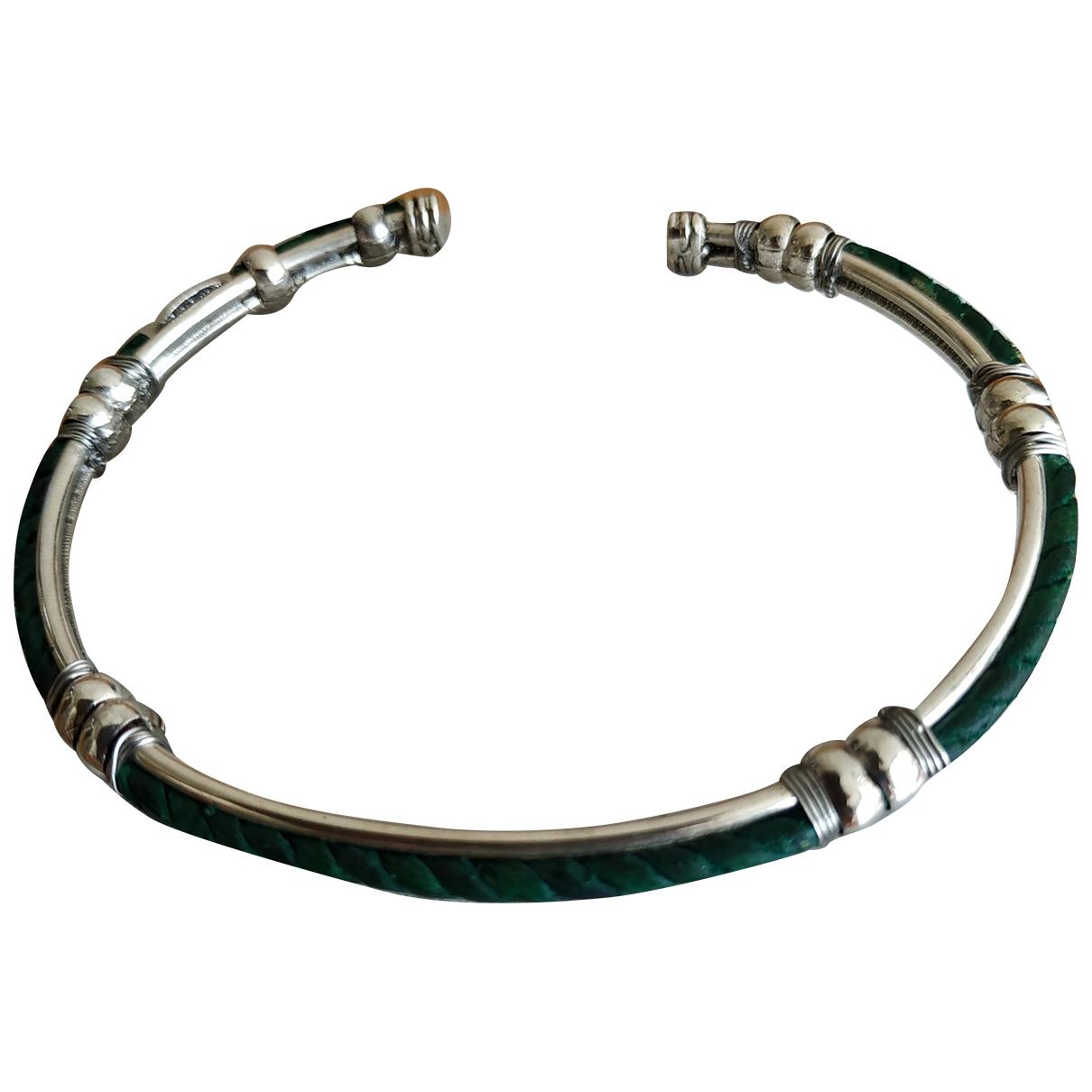 Gas - Bracelet   pour femme en plaque argent - vert
