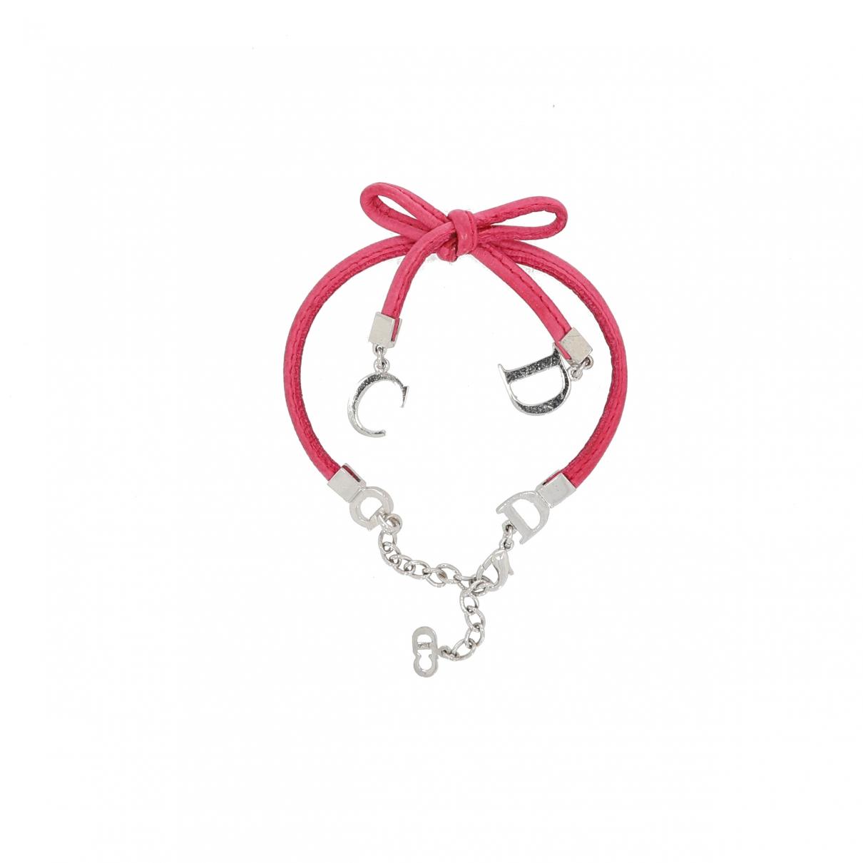 Christian Dior \N Armband in  Rosa Leder