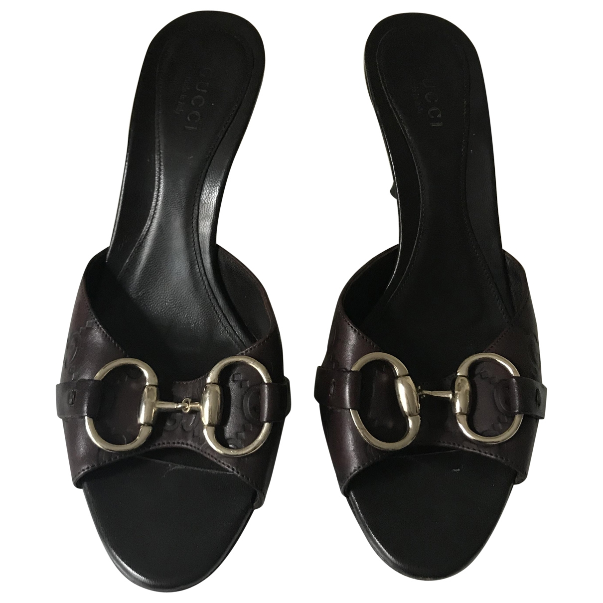Gucci \N Brown Leather Sandals for Women 34 EU