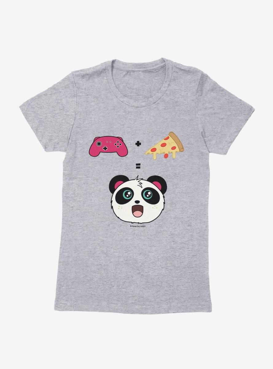 BL Creators: Hungry Rabbit Studio Pandi The Panda Video Games + Pizza Womens T-Shirt