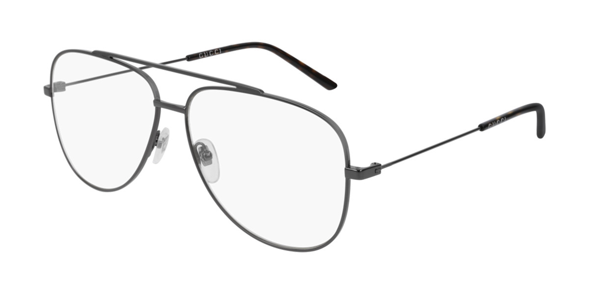 Gucci GG0442O 001 Men's Glasses Grey Size 60 - Free Lenses - HSA/FSA Insurance - Blue Light Block Available