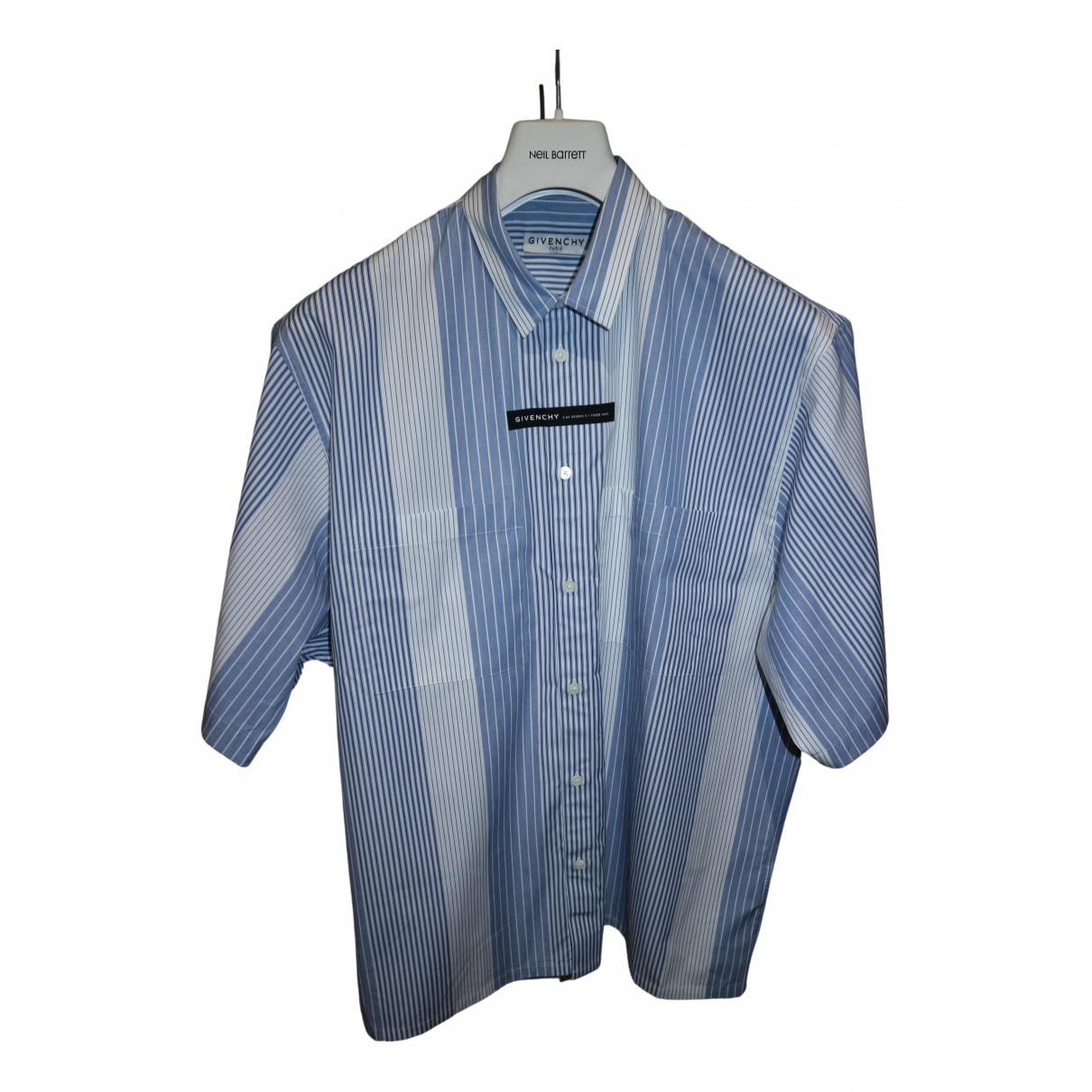 Givenchy N Blue Cotton Shirts for Men M International