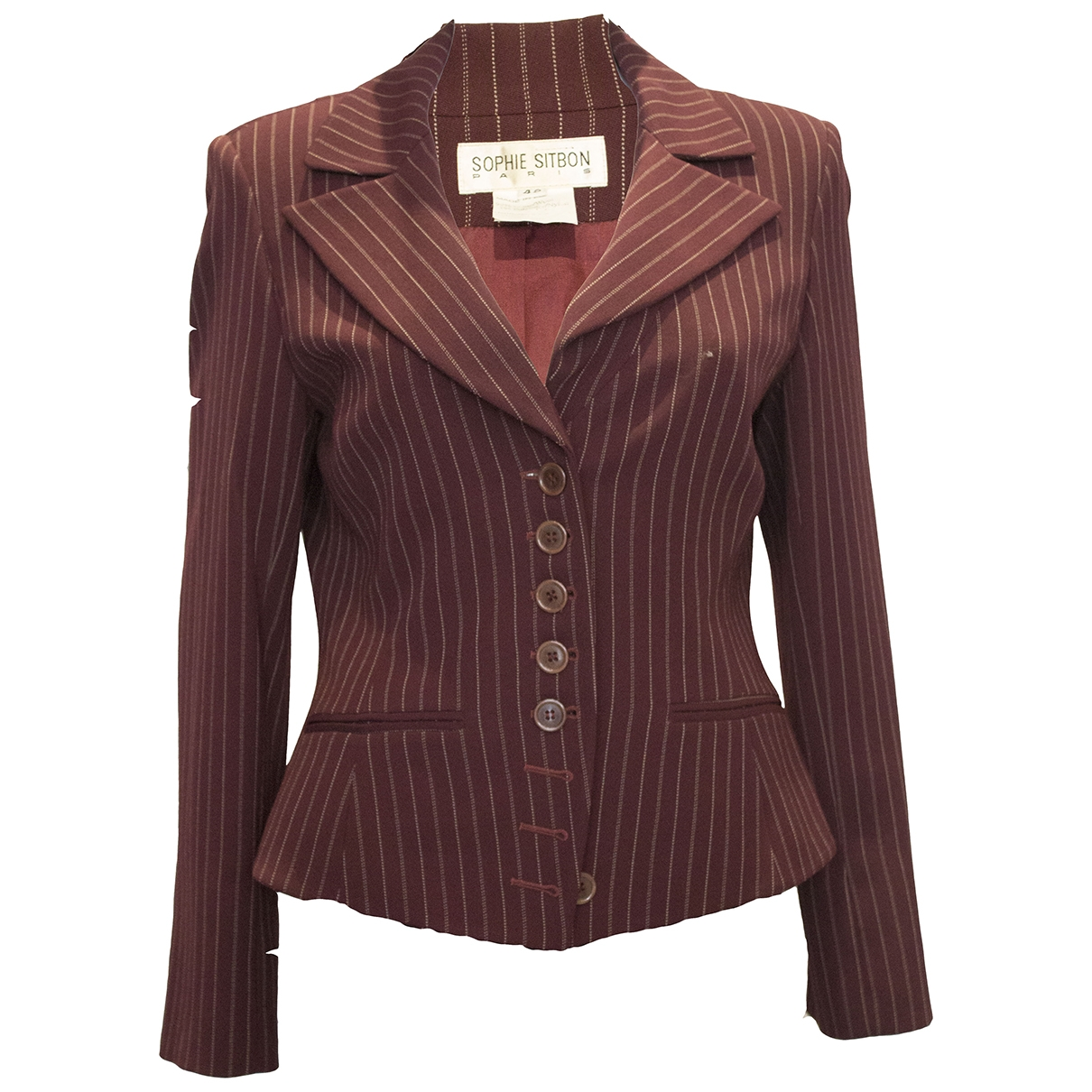 Non Signé / Unsigned \N Burgundy jacket for Women S International