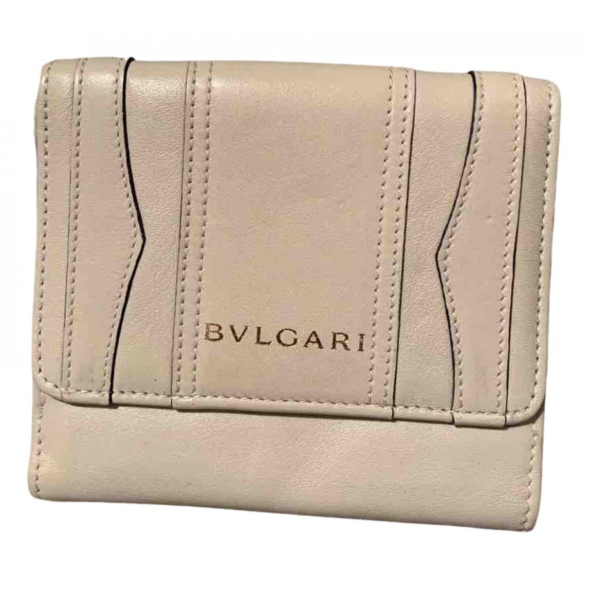 Bvlgari \N Portemonnaie in  Beige Leder