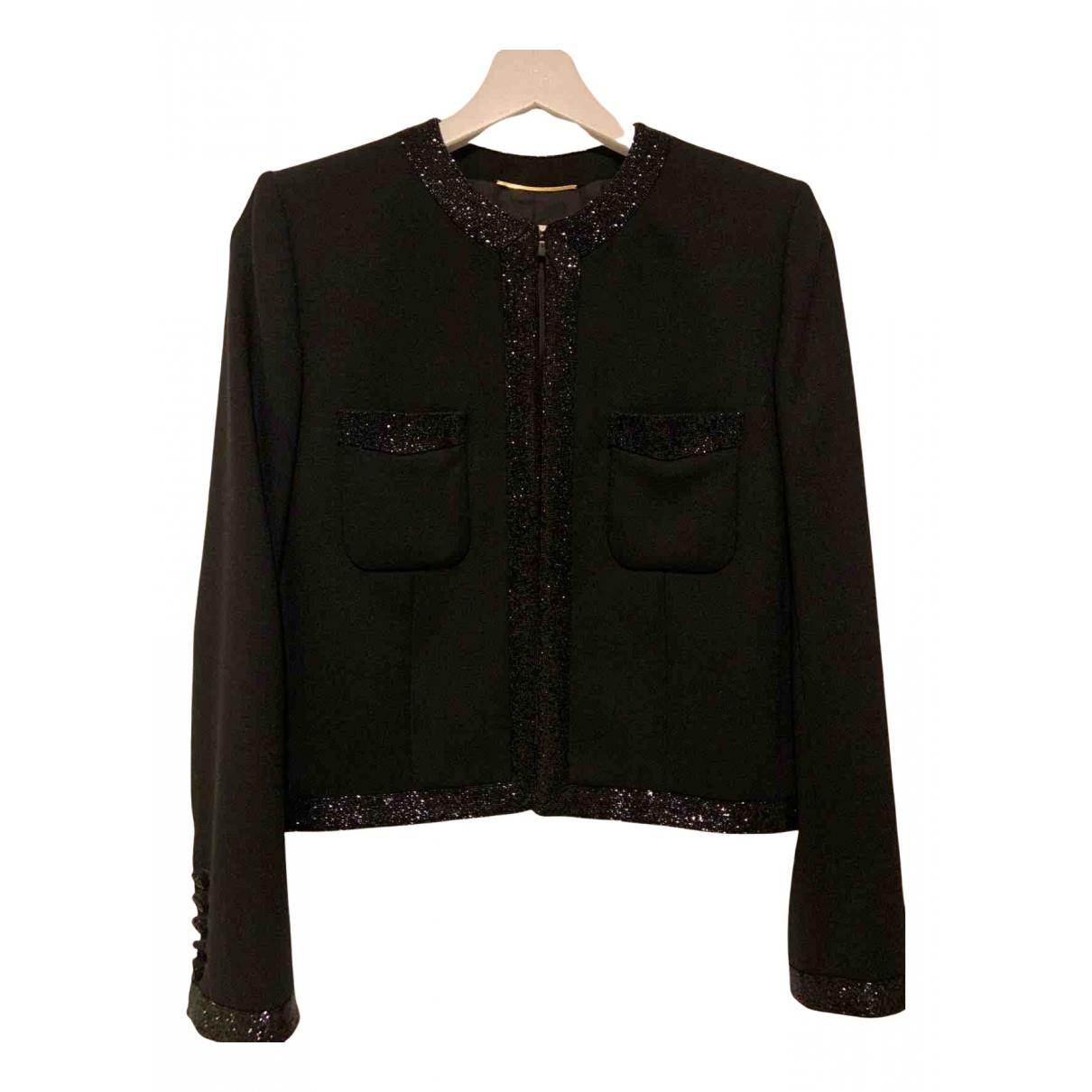 Saint Laurent N Black Wool jacket for Women 38 FR