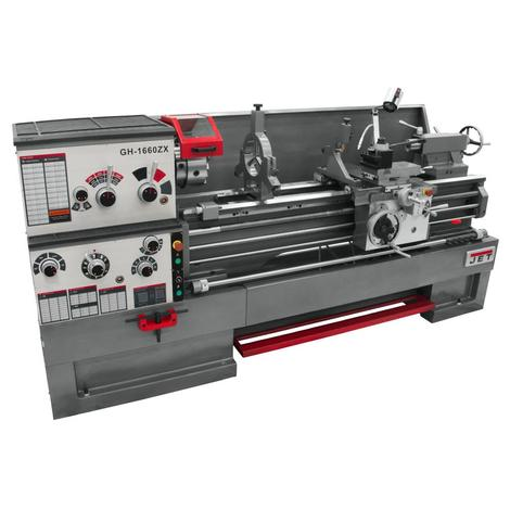 Jet Gear Head 16 x 60 ZX Lathe with Newall Dp700 DRO and Taper Attachment Installed