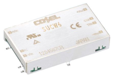 Cosel 6W Isolated DC-DC Converter Surface Mount, Voltage in 9 → 18 V dc, Voltage out ±15V dc