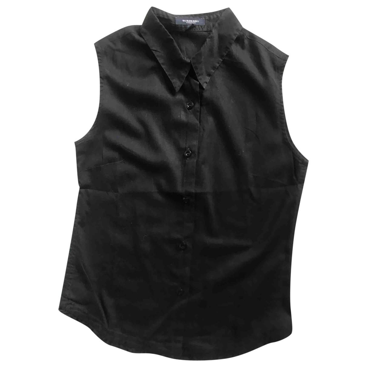 Burberry - Top   pour femme en coton - noir