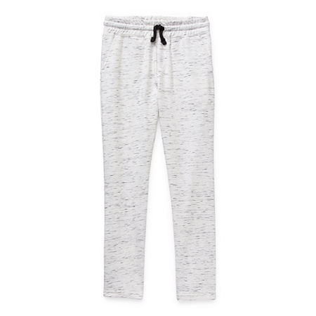 Arizona French Terry Little & Big Boys Tapered Jogger Pant, Small (8) , White