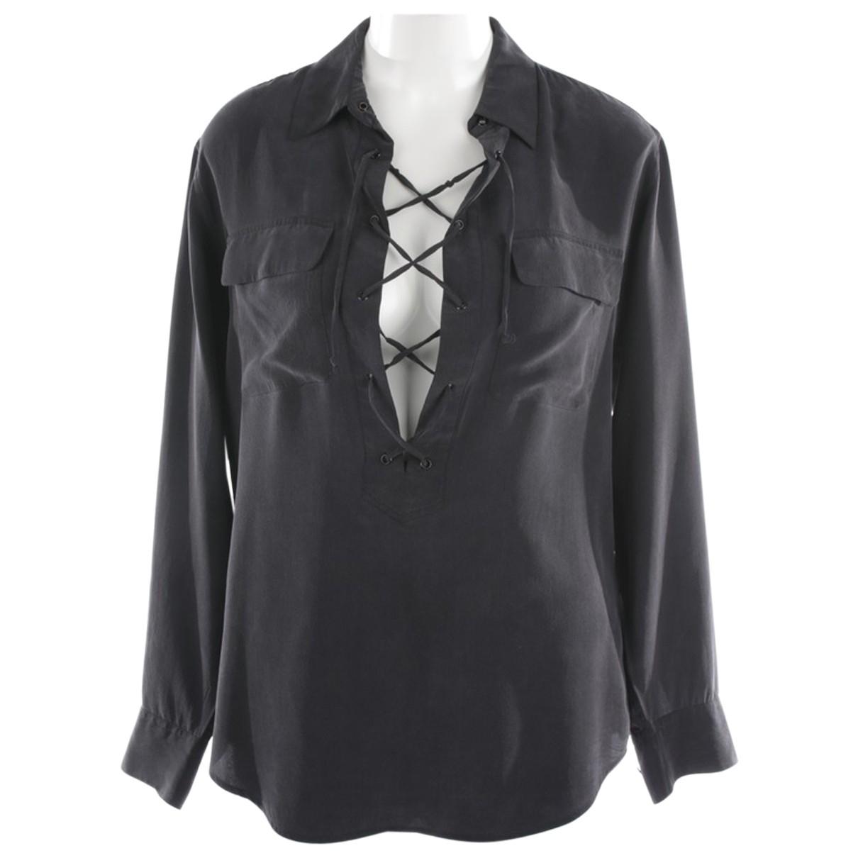 Equipment N Grey Silk  top for Women S International