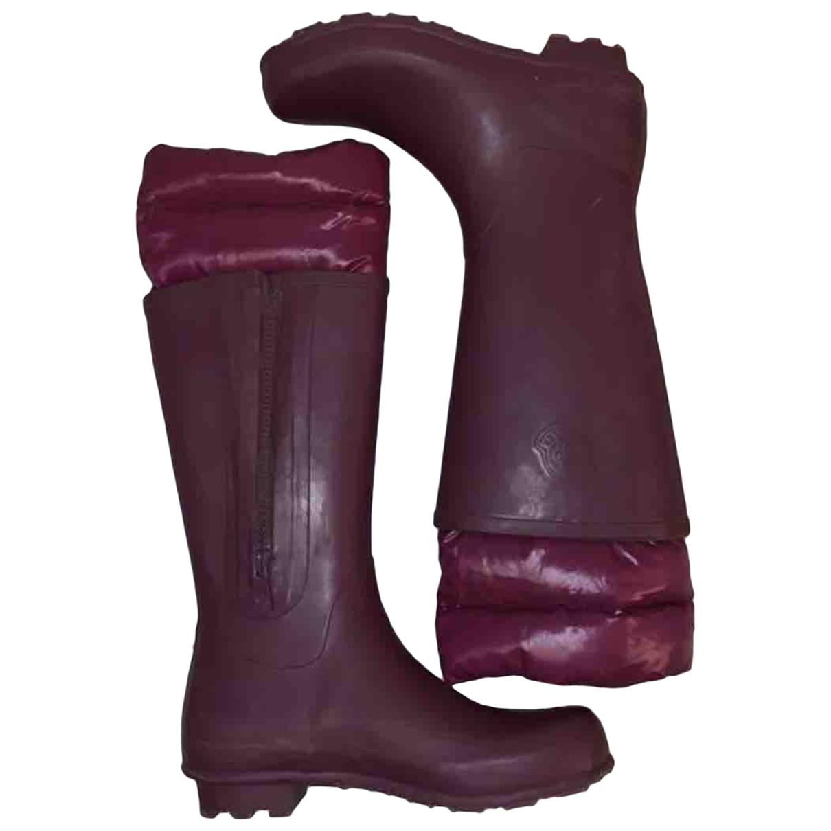 Moncler \N Purple Rubber Boots for Women 36 EU