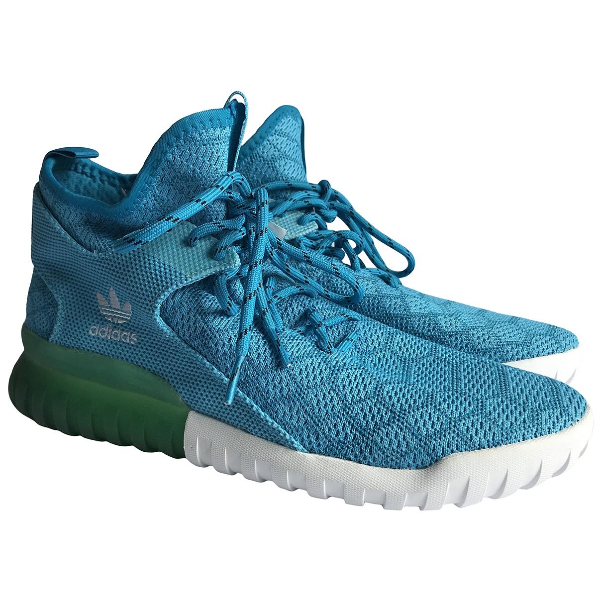 Adidas - Baskets Tubular pour homme en toile - bleu