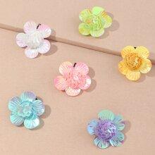 6 Stuecke Kleinkind Maedchen Haarspangen mit Blumen Dekor