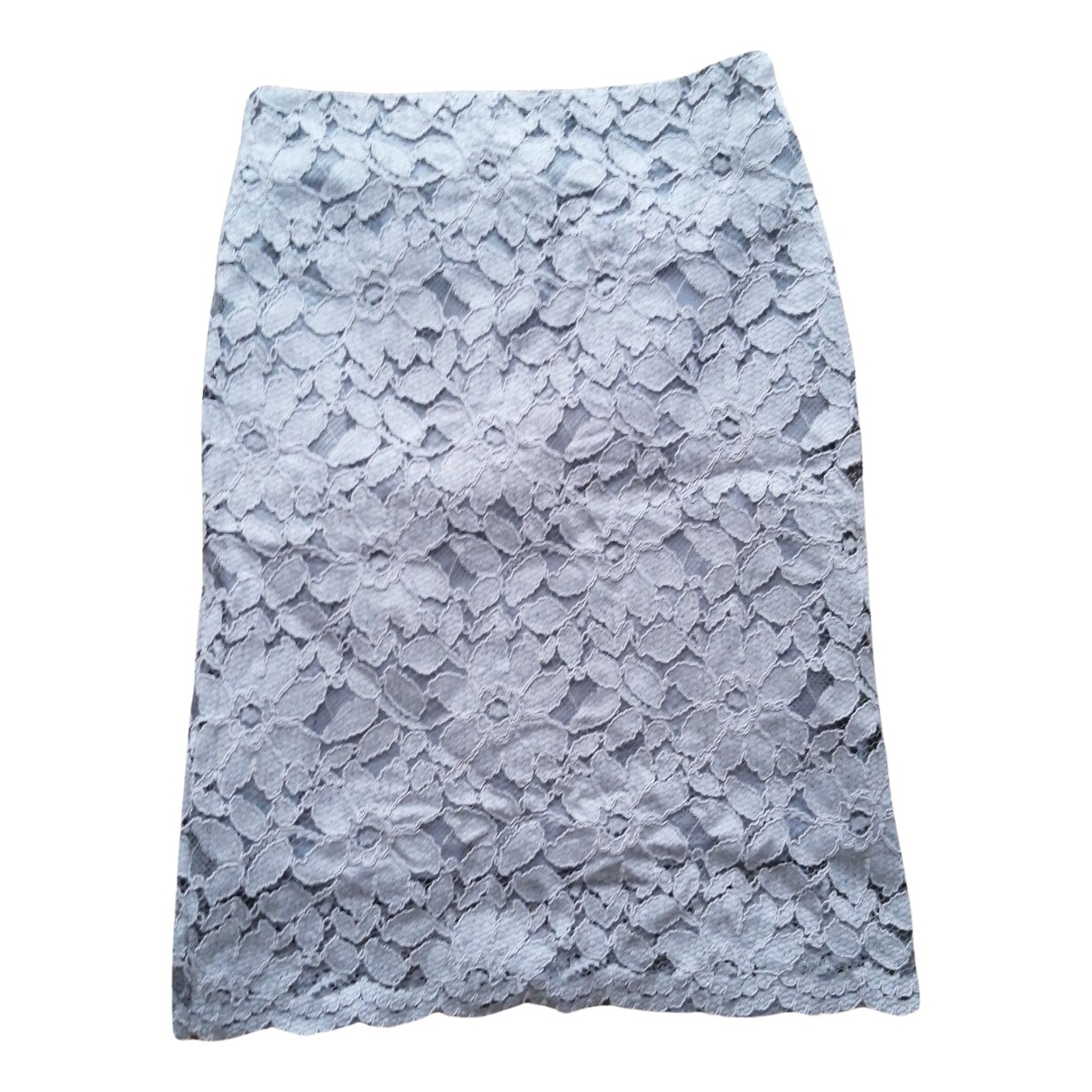 Non Signé / Unsigned N Grey Cotton skirt for Women 6 UK