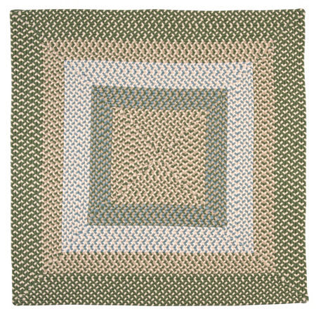 Montego Reversible Braided Indoor/Outdoor Square Rug, One Size , Green