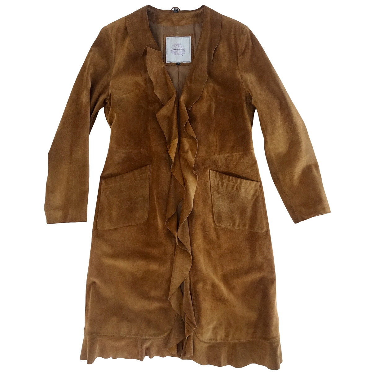 Christiane Celle \N Brown Suede coat for Women S International