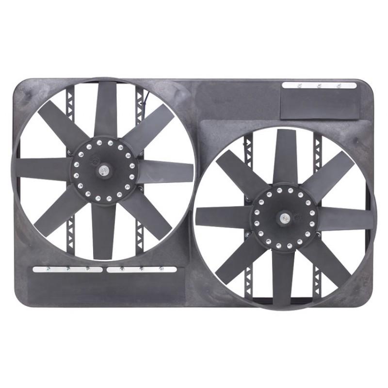 Flex-a-lite 298 Dual 13 1/2 Inch Electric Fan System with Full Shroud