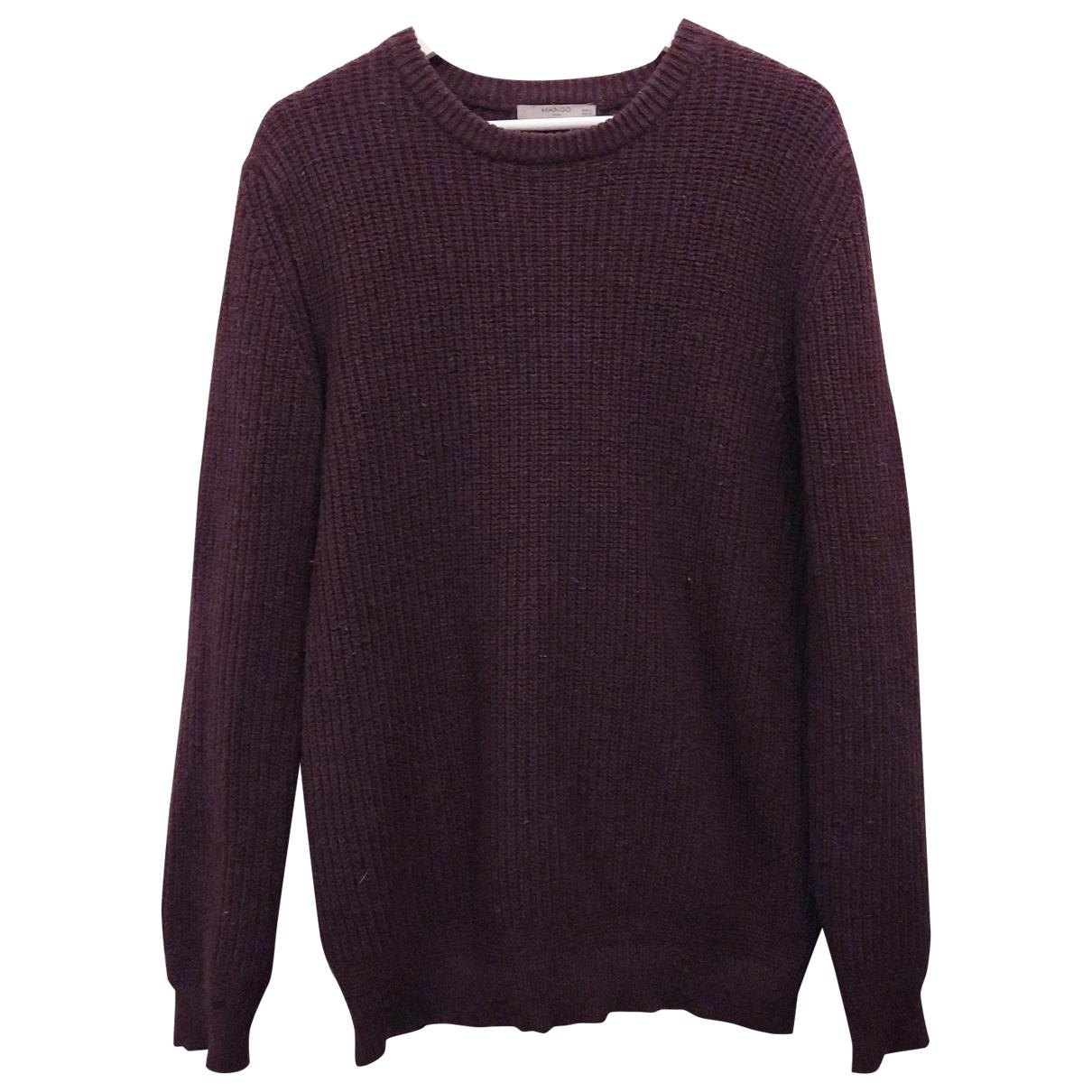 Mango \N Pullover.Westen.Sweatshirts  in  Lila Baumwolle