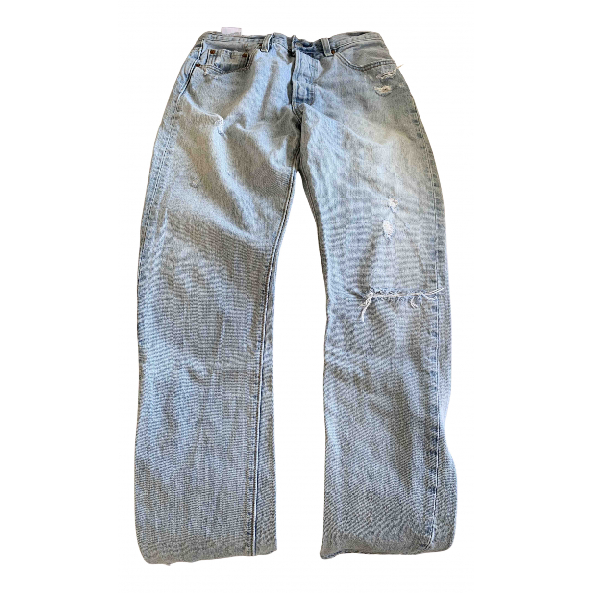 Levi's 501 Blue Cotton Jeans for Men 38 FR