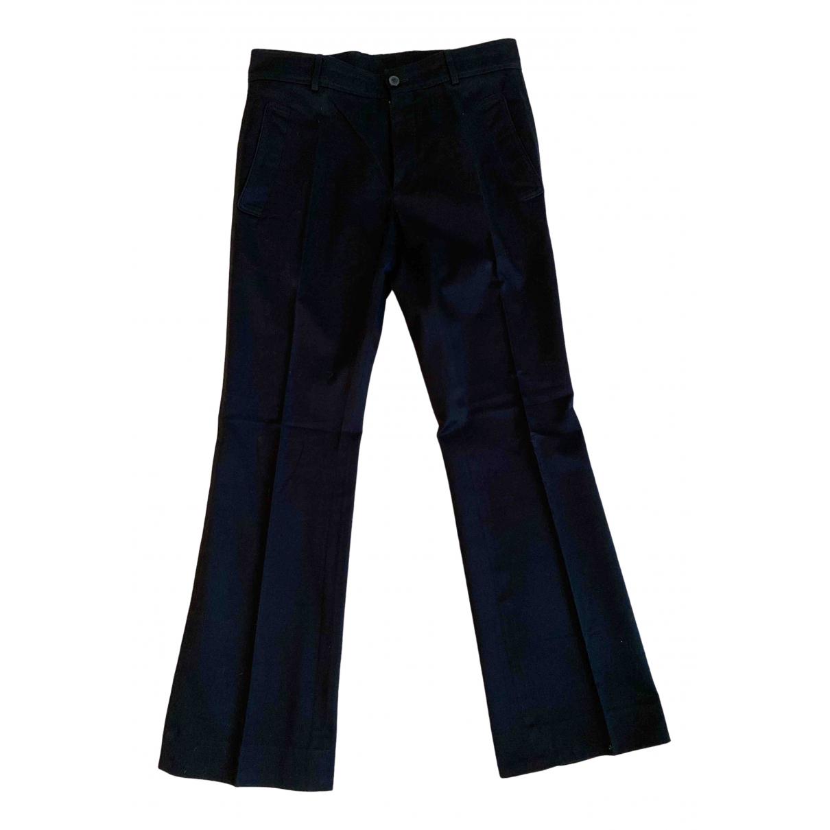 Pantalones en Algodon Negro Yves Saint Laurent