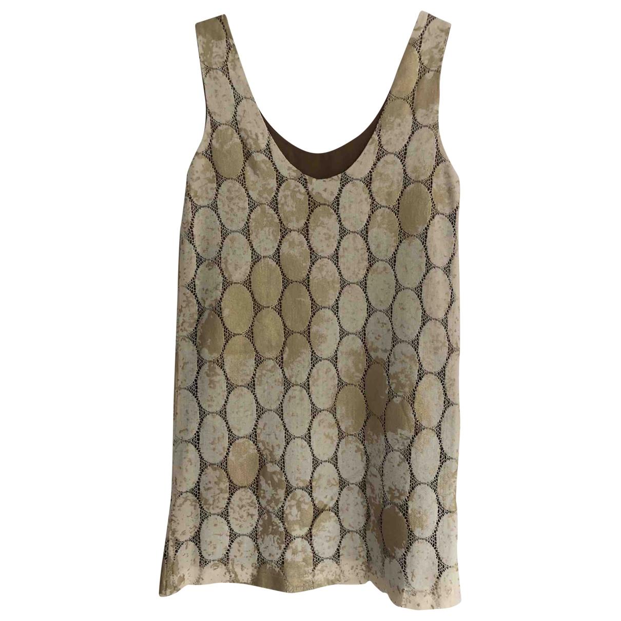 Lauren Moffatt \N Kleid in  Gold Baumwolle