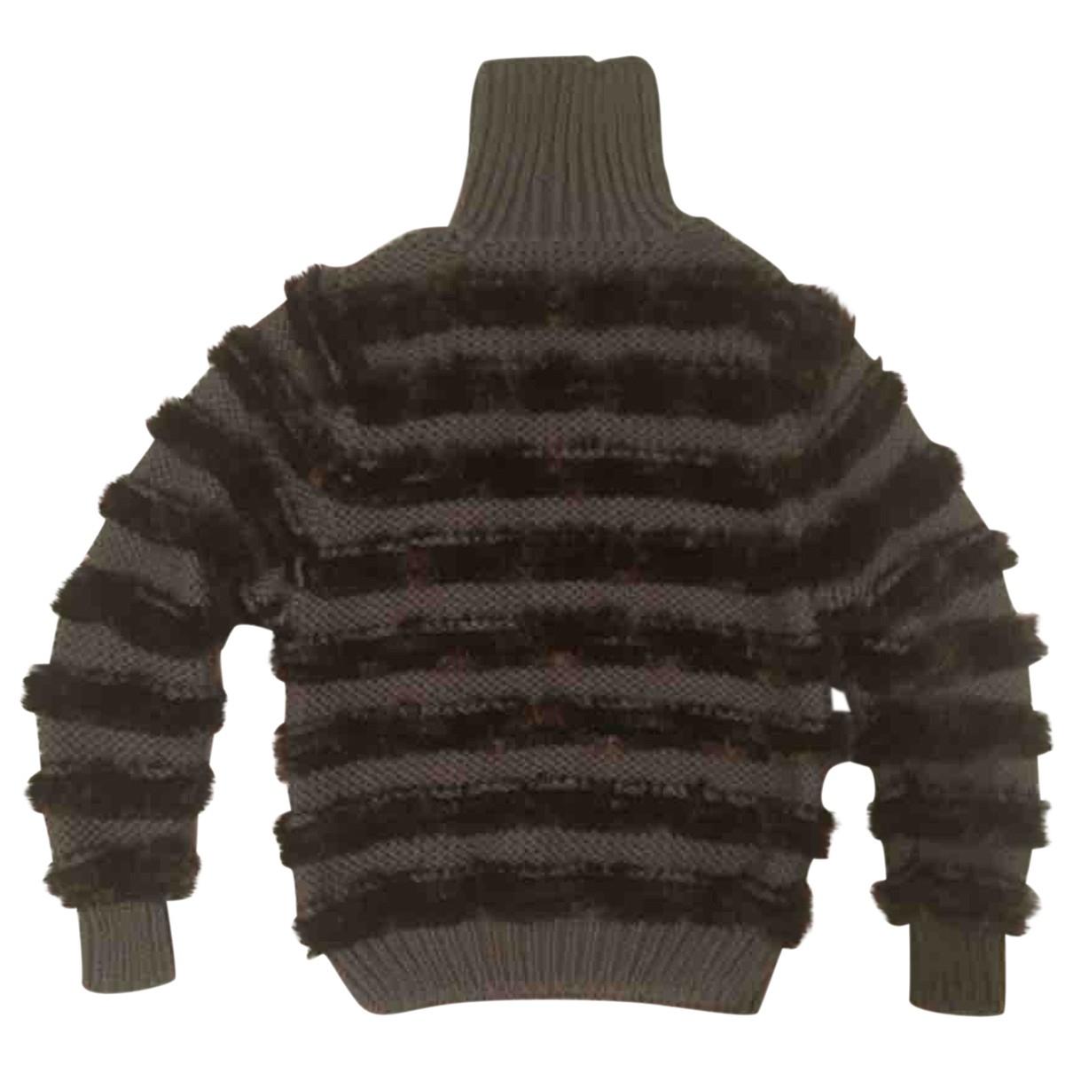 Fendi \N Pullover.Westen.Sweatshirts  in  Khaki Wolle