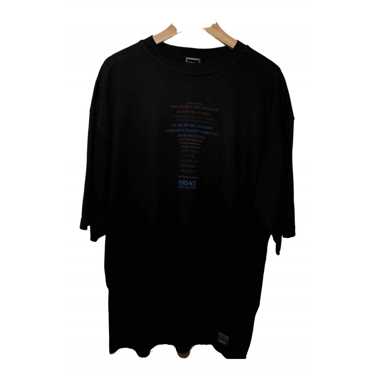 Versace Jeans \N Black Cotton T-shirts for Men XL International