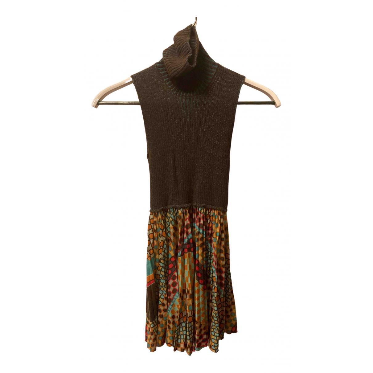 M Missoni - Top   pour femme en laine - marron
