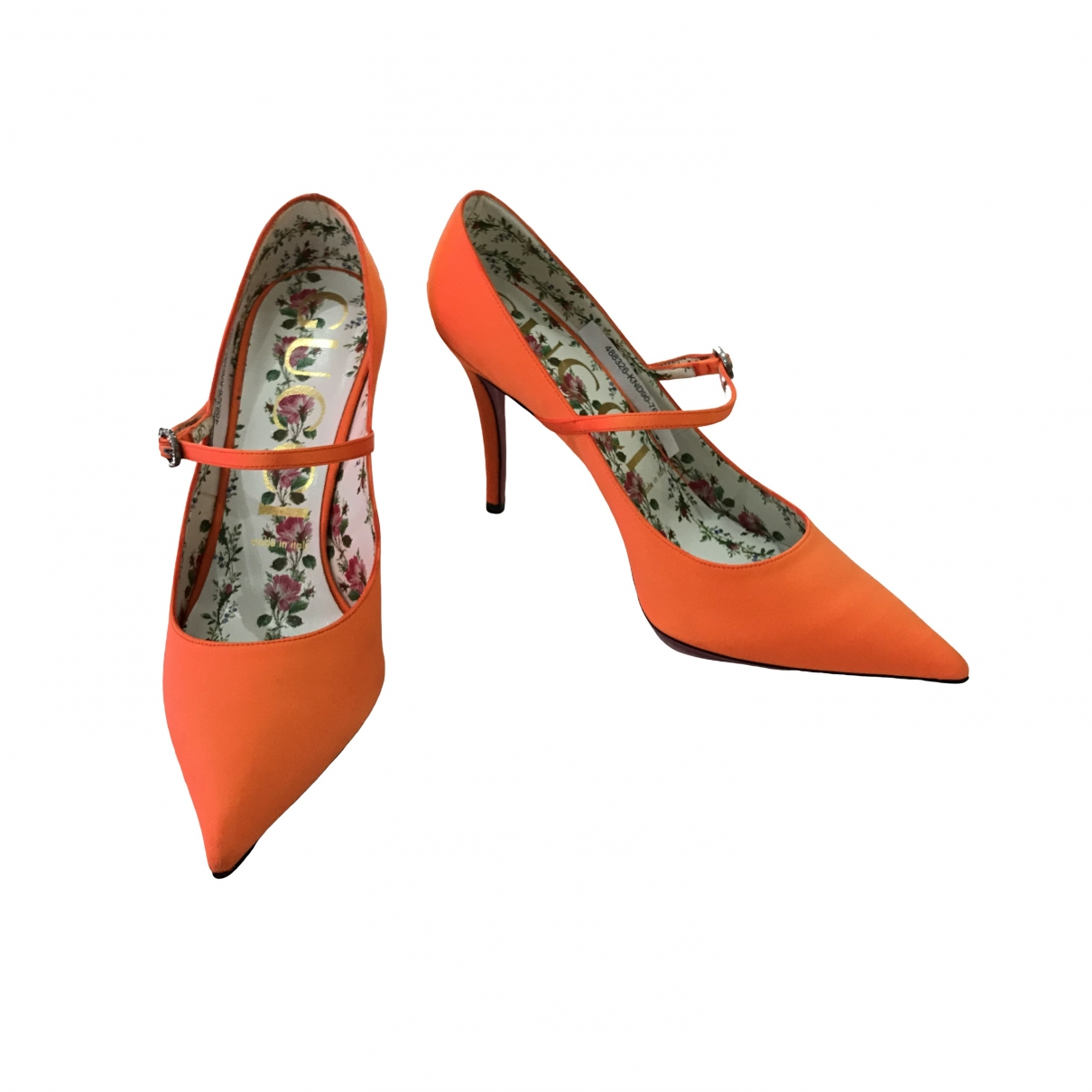 Gucci \N Orange Cloth Heels for Women 39 EU