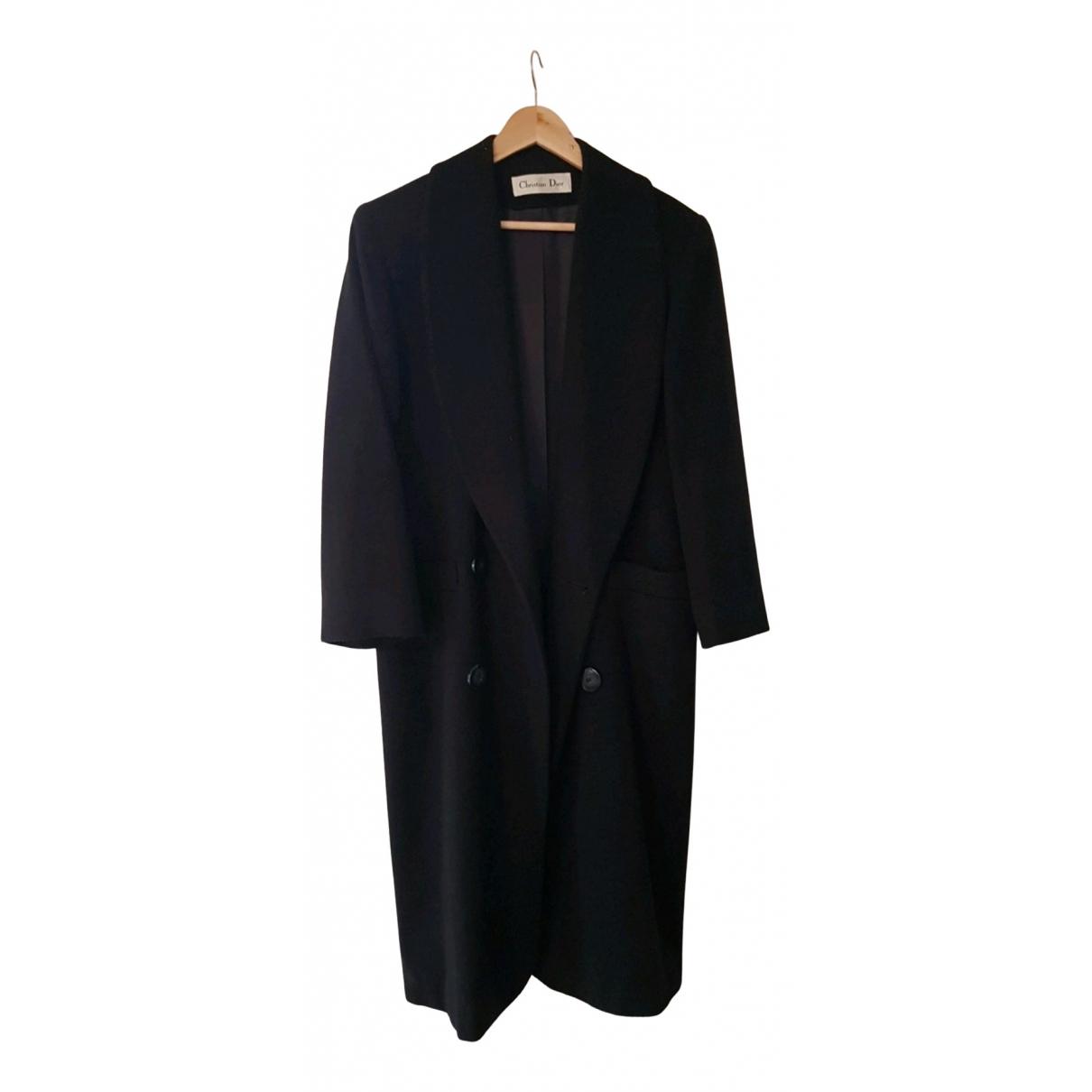 Dior - Manteau   pour femme en laine - marine