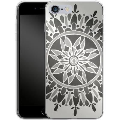 Apple iPhone 6 Plus Silikon Handyhuelle - Mandala Black von Cat Coquillette