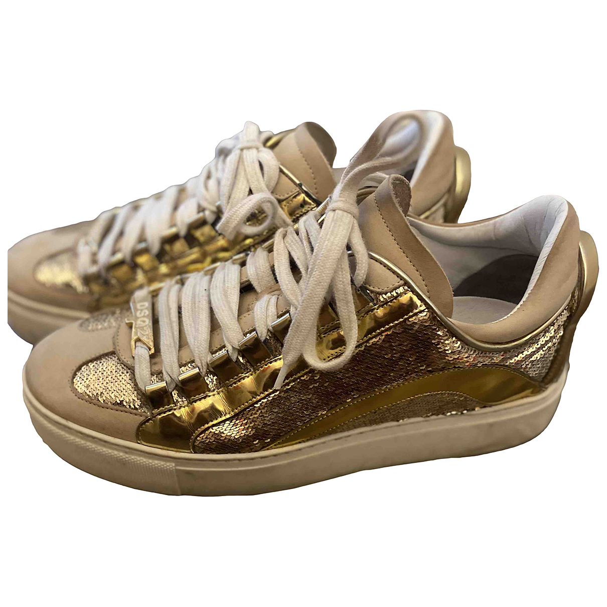 Dsquared2 \N Sneakers in  Beige Leder