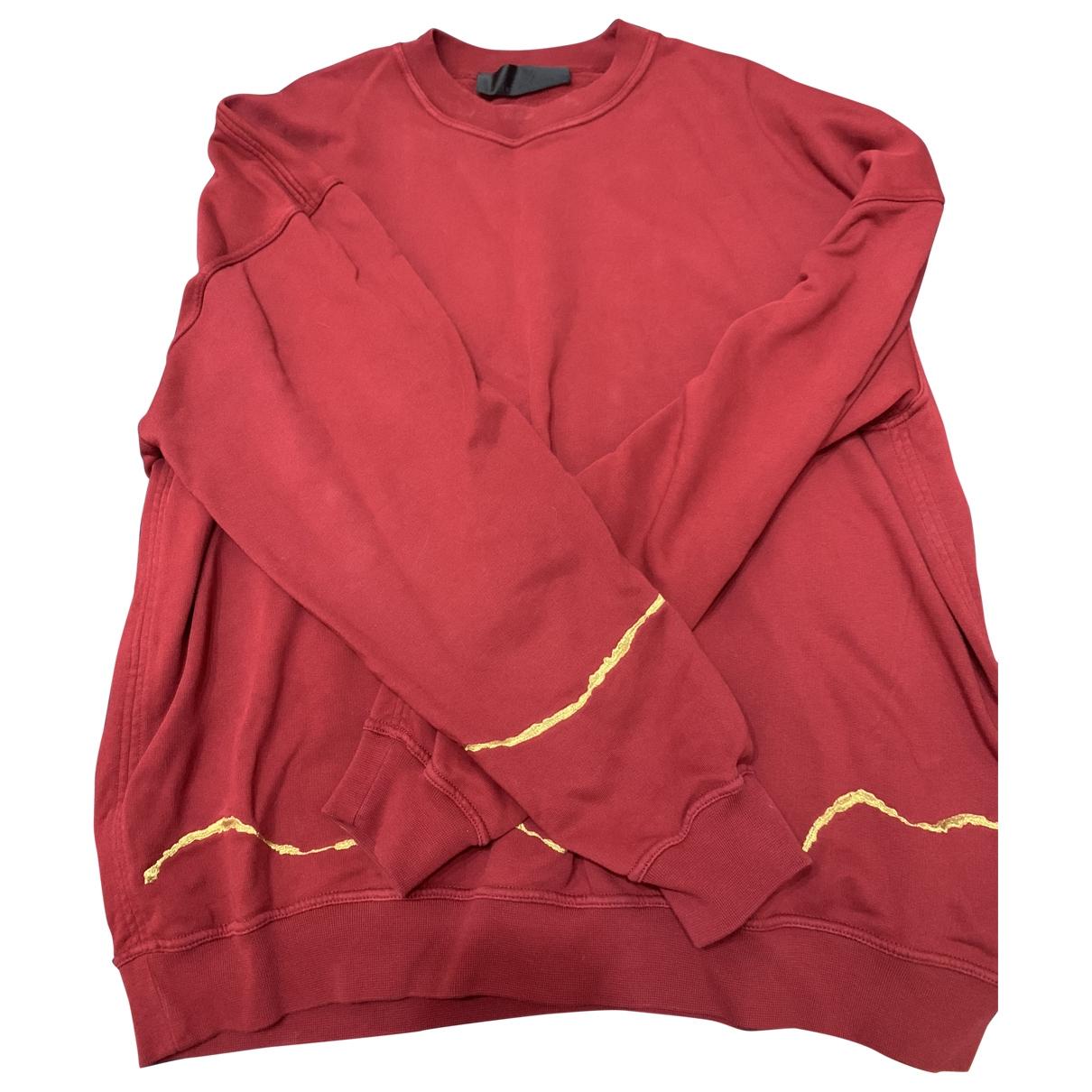 Haider Ackermann \N Pullover.Westen.Sweatshirts  in  Rot Baumwolle