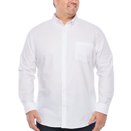 The Foundry Big & Tall Supply Co. Big and Tall Mens Long Sleeve Button-Down Shirt, 2x-large Tall , White