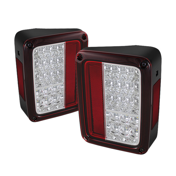 Spyder Auto ALT-YD-JWA07-LED-RC Red Clear LED Taillights Jeep Wrangler 07-15