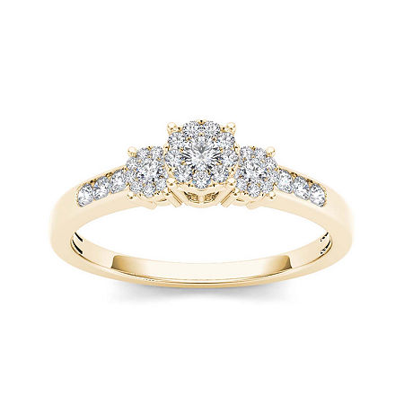 1/3 CT. T.W. Diamond 10K Yellow Gold Engagement Ring, 7 , No Color Family