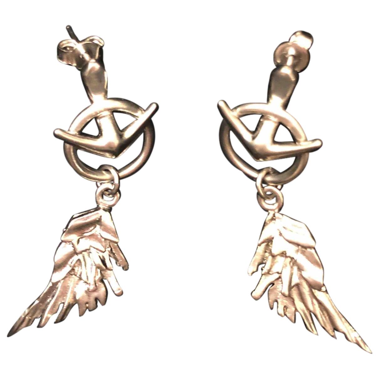 Roberto Cavalli - Boucles doreilles   pour femme en metal - argente