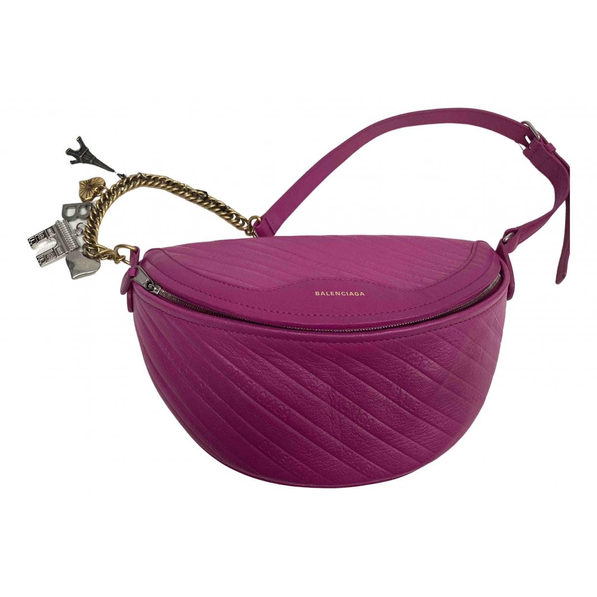 Balenciaga Souvenir XS Pink Leather Clutch bag for Women \N