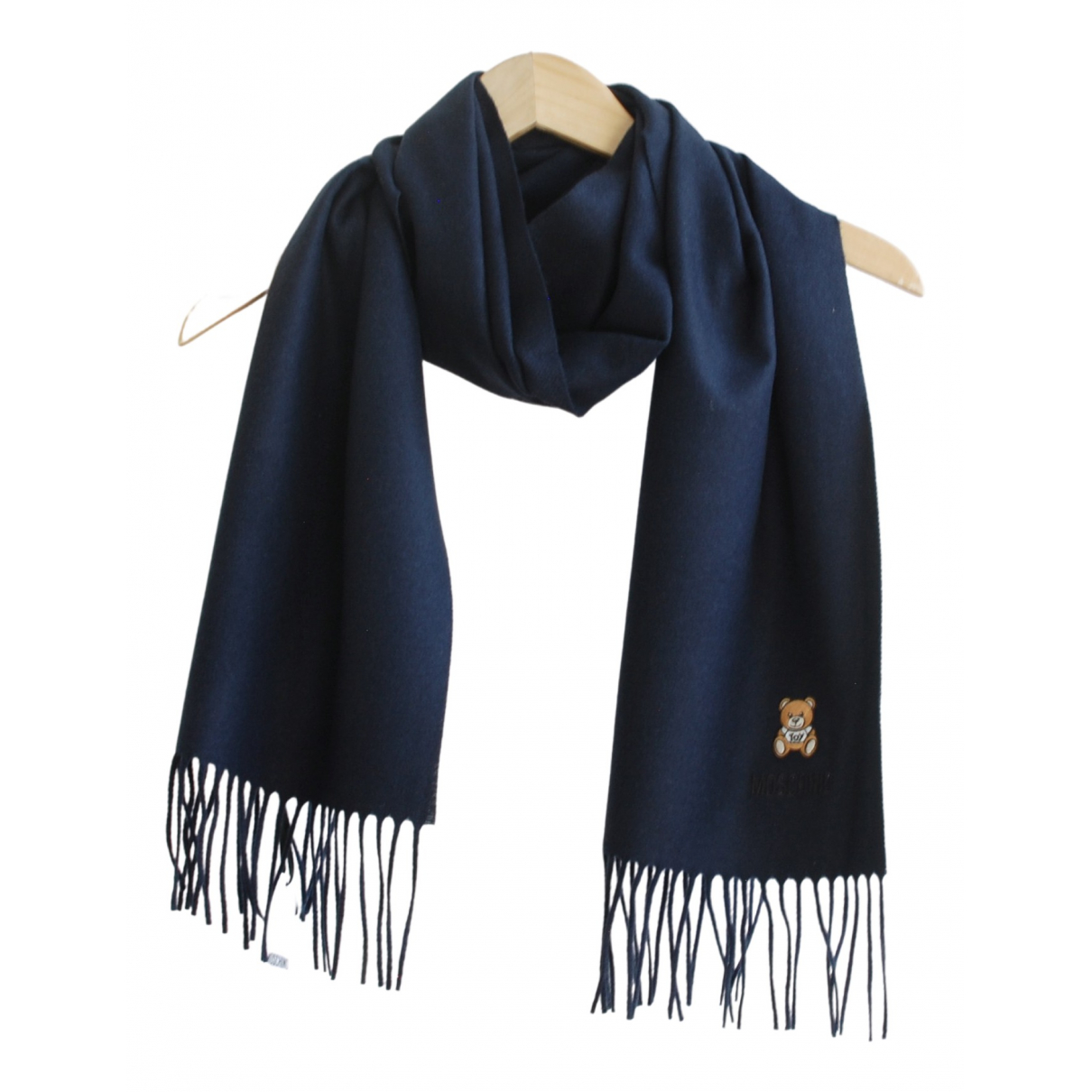 Moschino \N Schal in  Marine Wolle