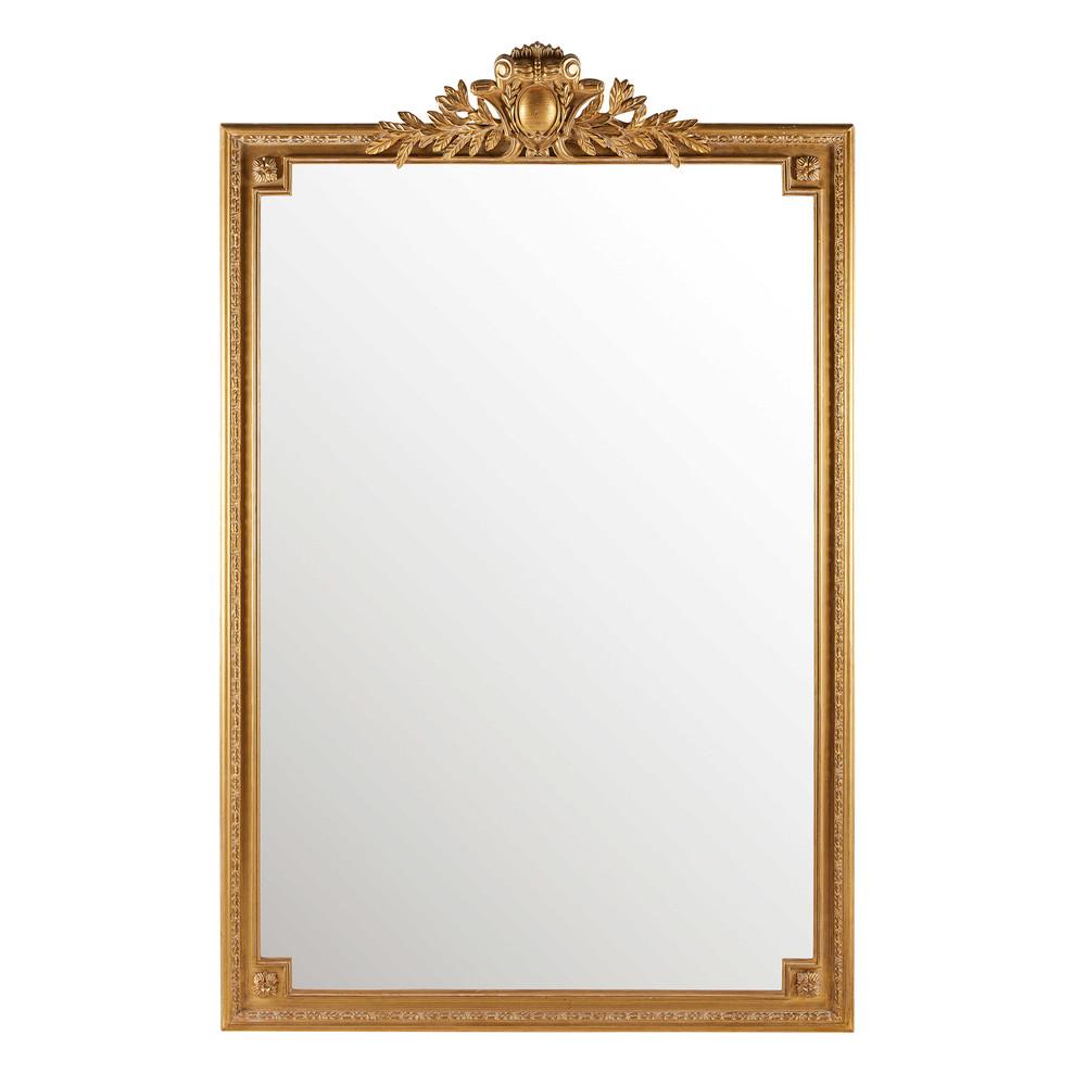 Spiegel mit goldfarbenen Zierleisten 120x185