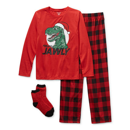 Arizona Little & Big Boys 2-pc. Pant Pajama Set, X-small (6-7) , Red