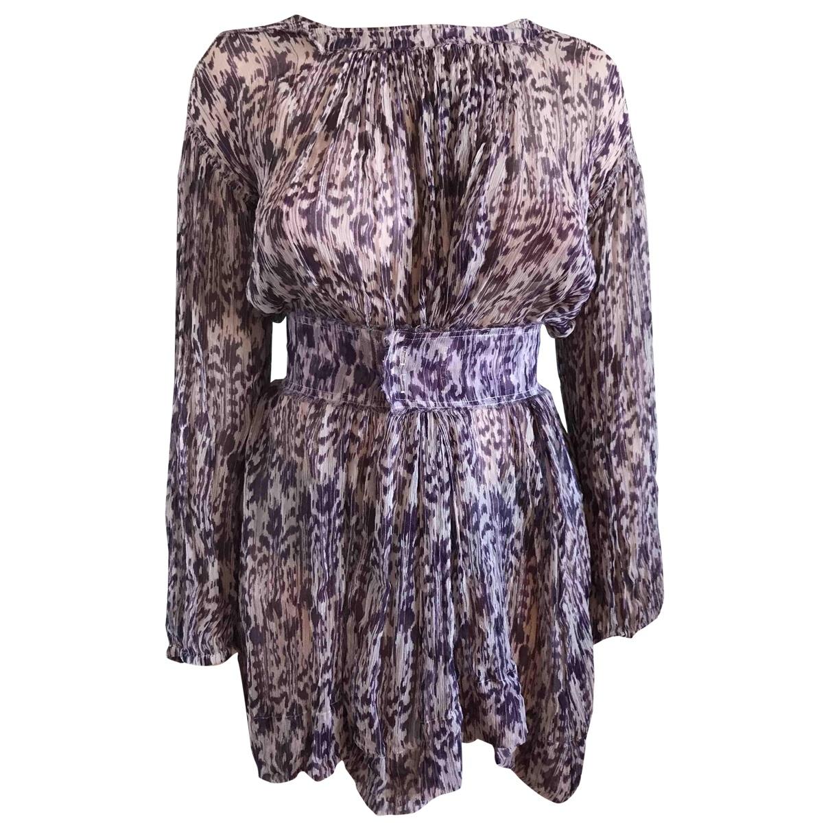 Isabel Marant Etoile \N Purple Silk dress for Women 2 0-5