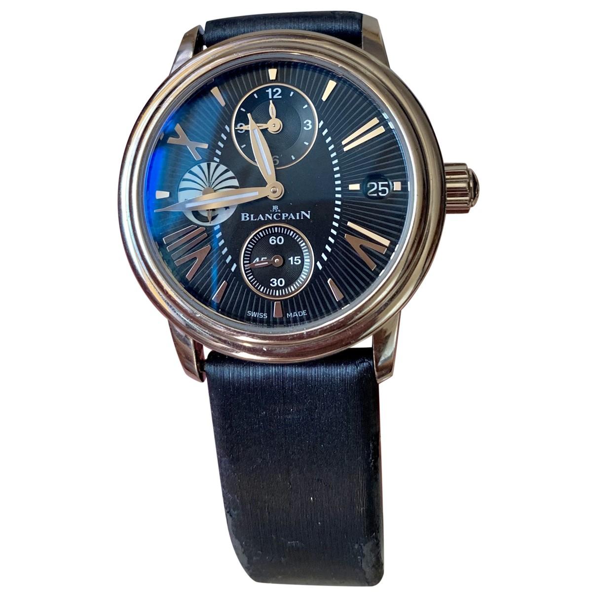 Blancpain \N Uhr in  Blau Stahl